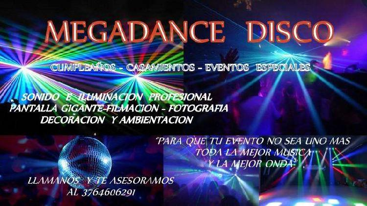DiscotecaDj Sonido e iluminacion profesional para eventos.
