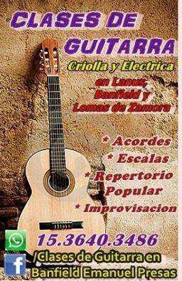 CLASES DE GUITARRA EN BANFIELD!!!