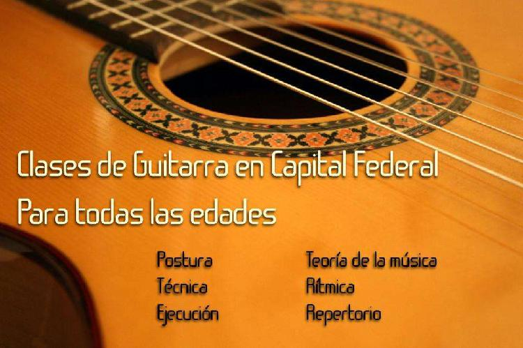 Clases de Guitarra en Capital Federal. Caballito. Todas las