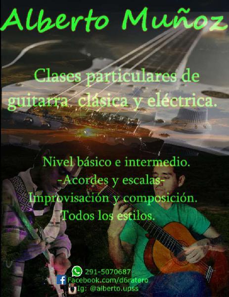 Clases particulares de guitarra eléctrica y criolla