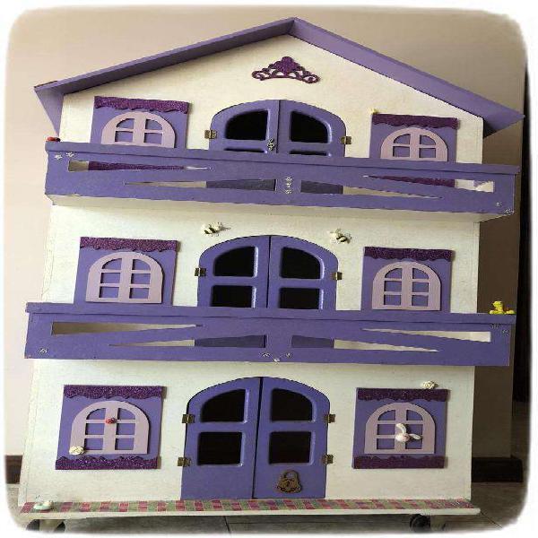 Casa de Muñecas de Madera Impecable...!!!