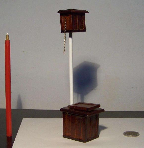 Inodoro Con Descarga Miniatura, Escala 1:12, Casa De