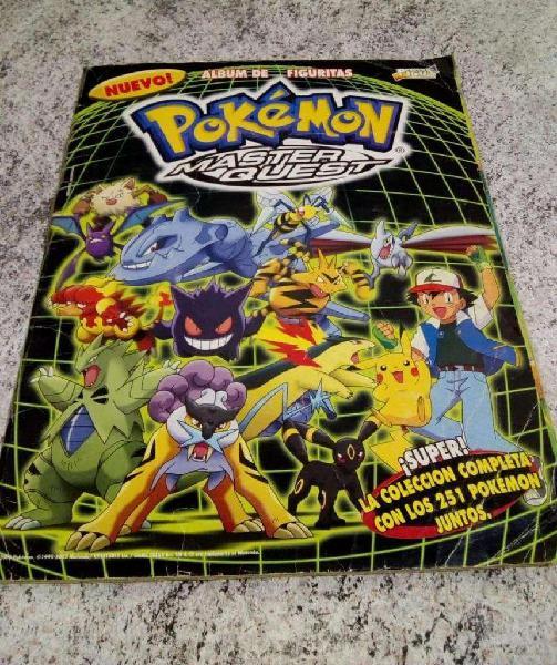 Album de figuritas Pokemon Master Quest COMPLETO!!!!