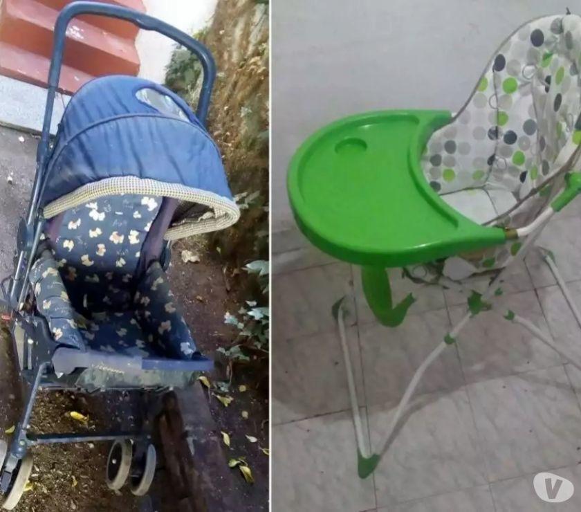 Coche y silla de Comer para Bebé (Negociable)