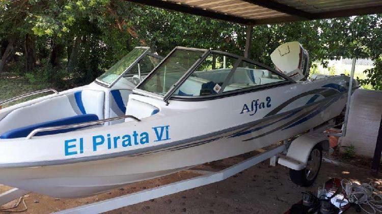Lancha Alfa 2 Nautica Piana Con Motor Johnson 115hp Completa