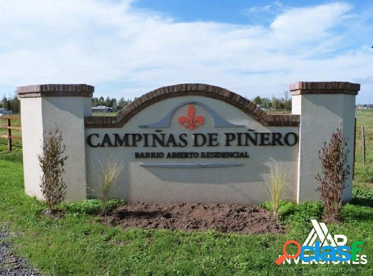 LIQUIDO TERRENO EN CAMPIÑAS DE PIÑERO - LOTE ESCRITURADO
