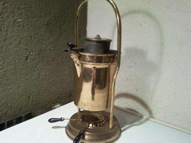 ANTIGUA CAFETERA SAMOVAR DE BRONCE