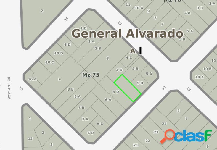 VENTA DE LOTE EN EXCELENTE UBICACION. 226m2 EN ZONA II