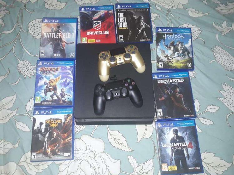 Ps4slim 1tb 8 Juegos Fisicos 2 Controles