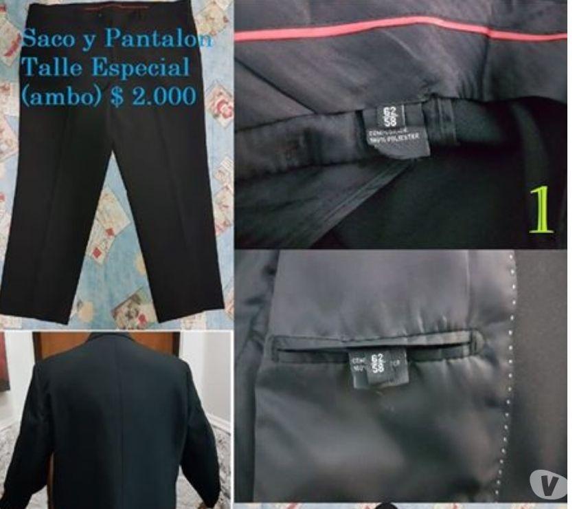 Traje Saco Pantalon Ambo Negro Camisa Talle Especial Hombre