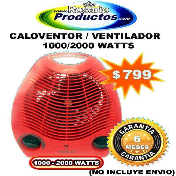 CALOVENTOR Y VENTILADOR 1000/2000 WATTS (6 MESES GARANTÍA)
