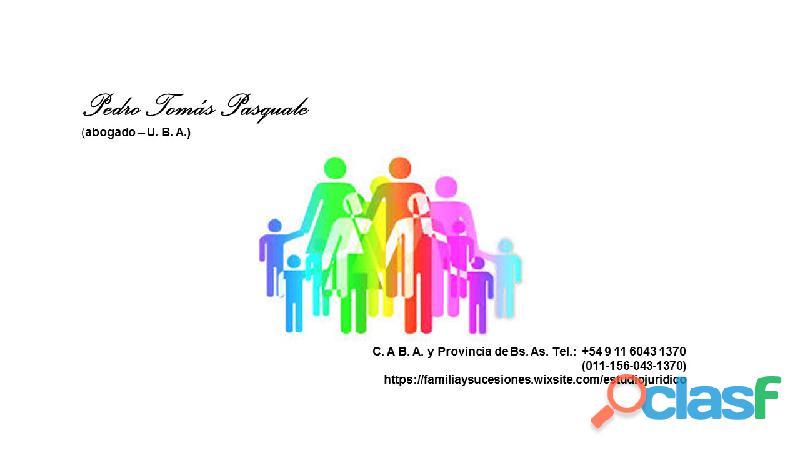 ASISTENCIA JUZGADO DE FAMILIA EN PROVINCIA DE BUENOS AIRES