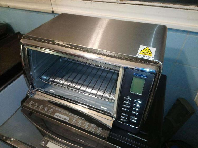 HORNO ELECTRICO BLACK DECKER METALIZADO conveccion digital