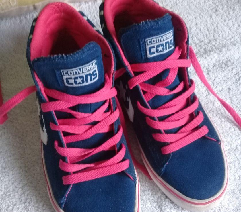 Zapatillas Converse bota GAMUZA originales impecables Nº 37