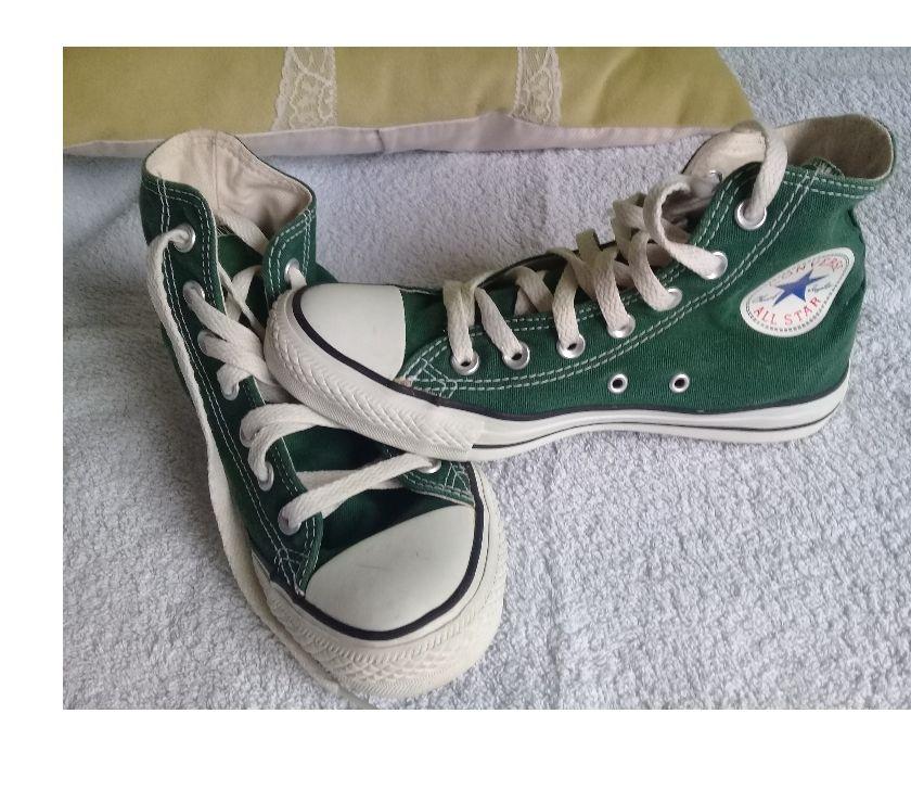 Zapatillas Converse bota verde originales impecables Nº 37