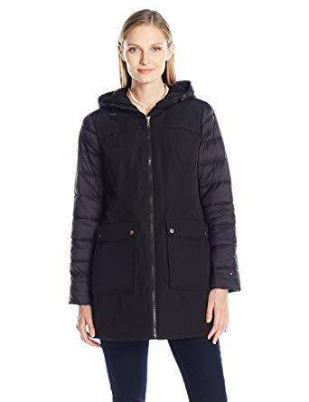 Campera Tommy Hilfiger Con Mangas Puffer Talla S