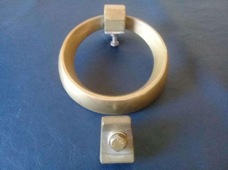 Llamador de Bronce para Puerta, aro de bronce, para toallero
