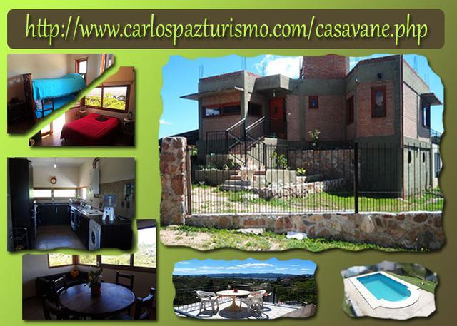 Casa en alquiler Carlos Paz,wifi,6 pers, semana