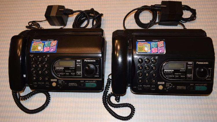 Fax Panasonic KX FT37, dos unidades usadas, muy buen estado,