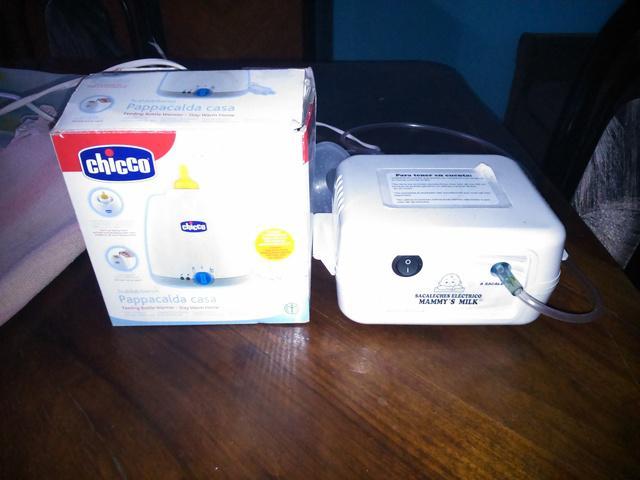 Vendo saca leche eléctrico+calentador de mamadera y papilla