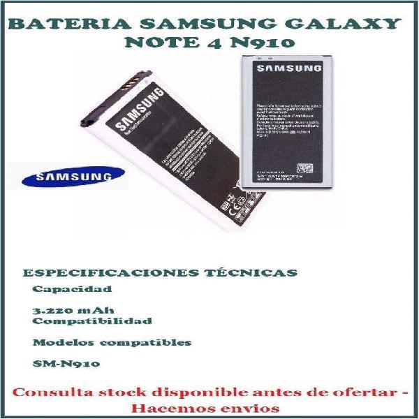 Bateria Original Samsung Para Galaxy Note 4 N910.
