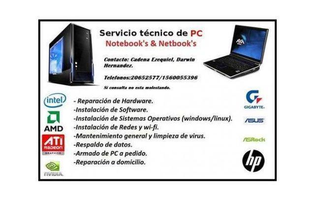 Capital Federal. Servicio Técnico DE Pc