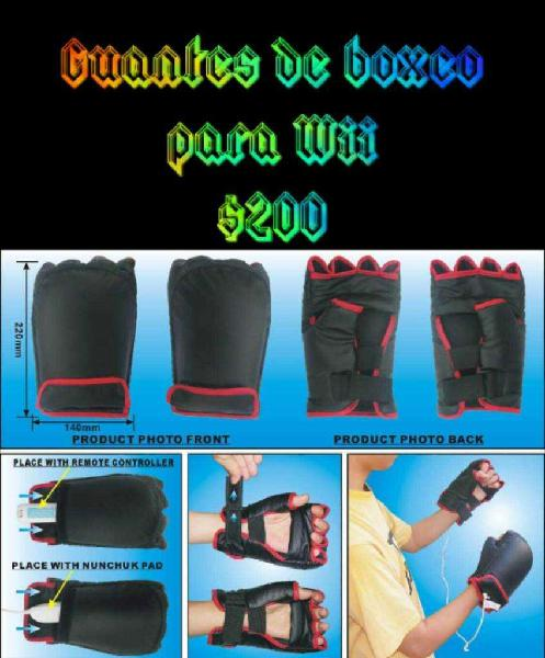 Guantes de Boxeo para Wii