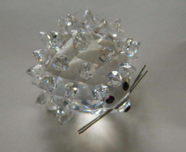 Miniatura De Cristal De Bohemia Forma De Erizo