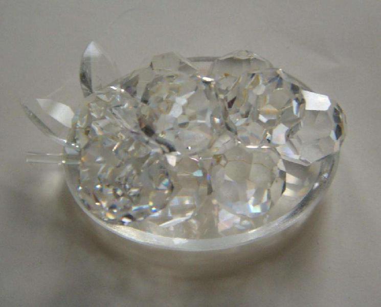 Miniatura De Cristal De Bohemia Forma: Racimo De Uvas