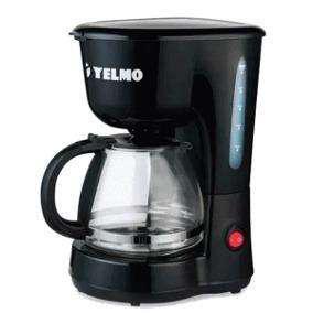 Cafetera eléctrica YELMO. Filtro permanente. 12 pocillos.