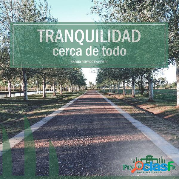 VENDO LOTE EN BARRIO CERRADO - Pinares del Sur - SEGURIDAD Y