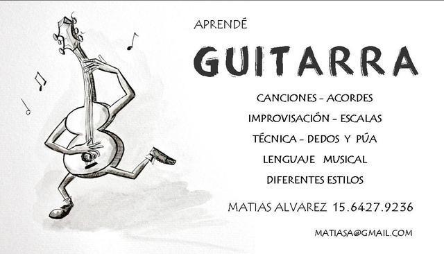 Clases de Guitarra (Criolla y Electrica)