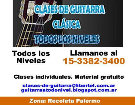 Clases de Guitarra clasica Palermo