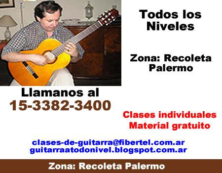 Clases de Guitarra clasica Recoleta