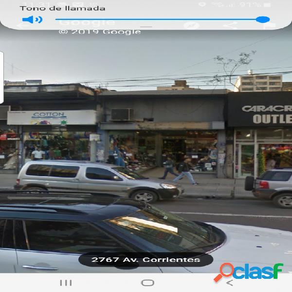 Local Sobre Av Corrientes al 2600 en Alquiler