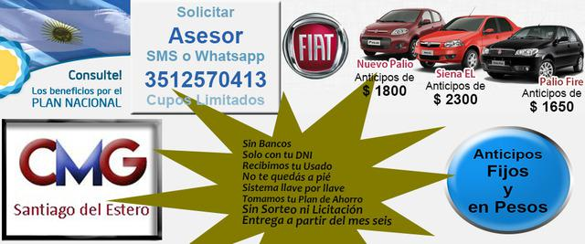 Fiat Palio Fire, Nuevo Palio, Siena 0 Km. Anticipos desde