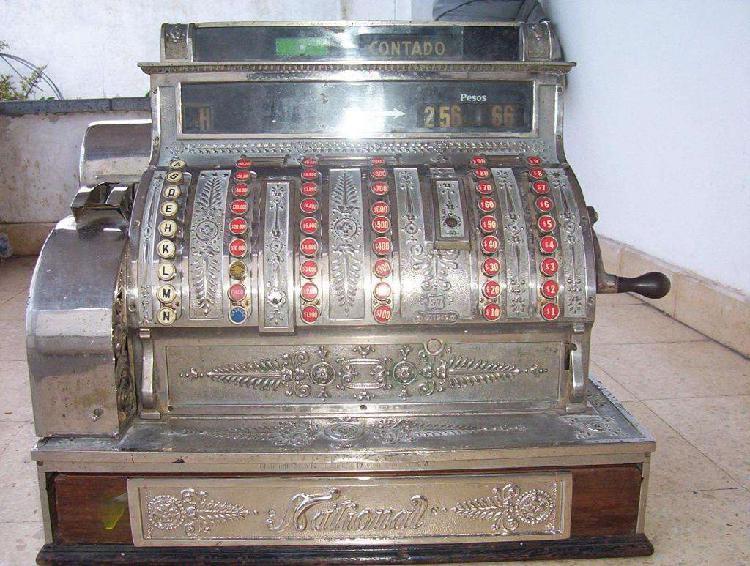 Antigua Registradora National Labrada Año 1897 usa Mod.97