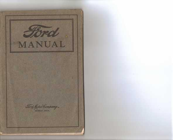 Manual Ford 1922