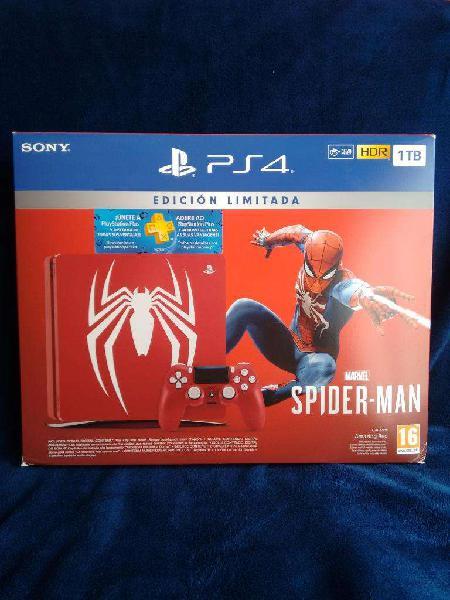 Ps4 Slim 1 Tb Edición Marvels Spiderman