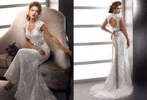 Liquido: Vestido de novia Sirena talle S NUEVO, sin uso