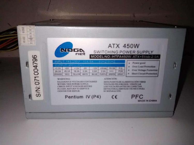 Fuente De Alimentación Cpu Noganet Atx 450 Watts