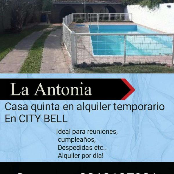 Alquilo Casa Quinta en City Bell