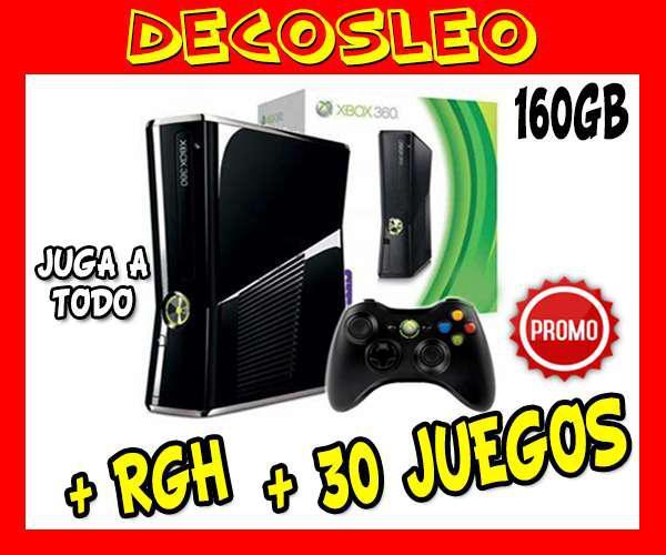 Xbox 360 de 160gb 30 juegos DUAL para todo tipo de juegos