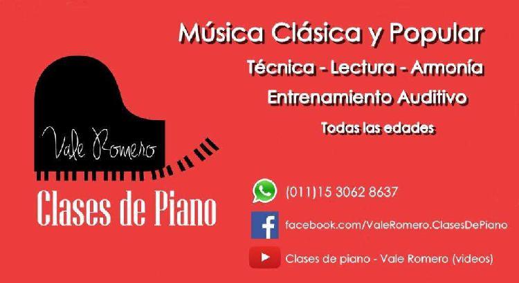 Clases de PIANO y Lenguaje Musical en Capital Federal