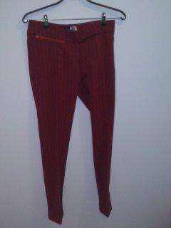 Pantalón de vestir, rojo, marca Alma