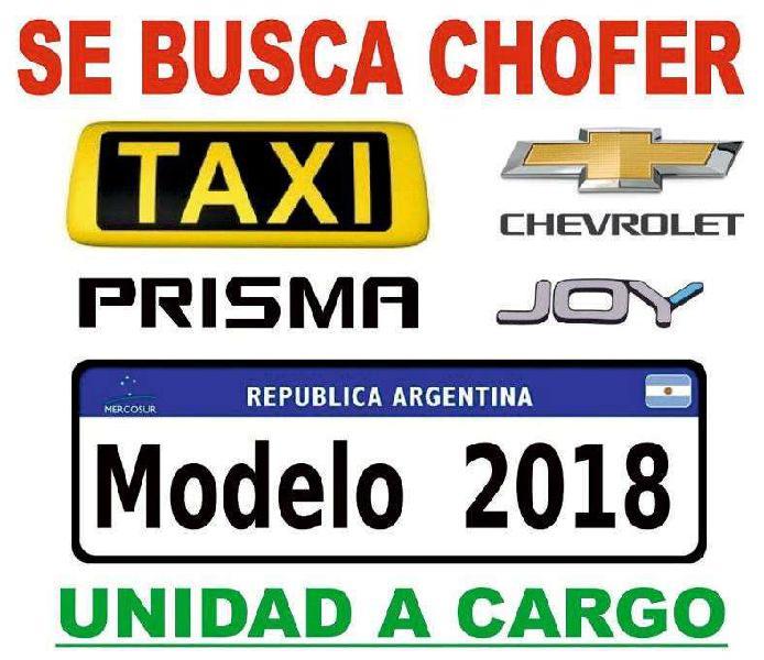 CHOFER para Taxi Chevrolet Prisma 2018 a cargo