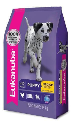 Eukanuba Puppy Cachorro Mediano X 15 Kg + Regalo - Drovenort