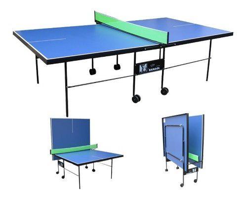 Mesa De Ping Pong Profesional Tenis De Mesa Plegable C/rueda