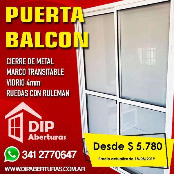 Puerta Balcon Vidrio Entero Desde