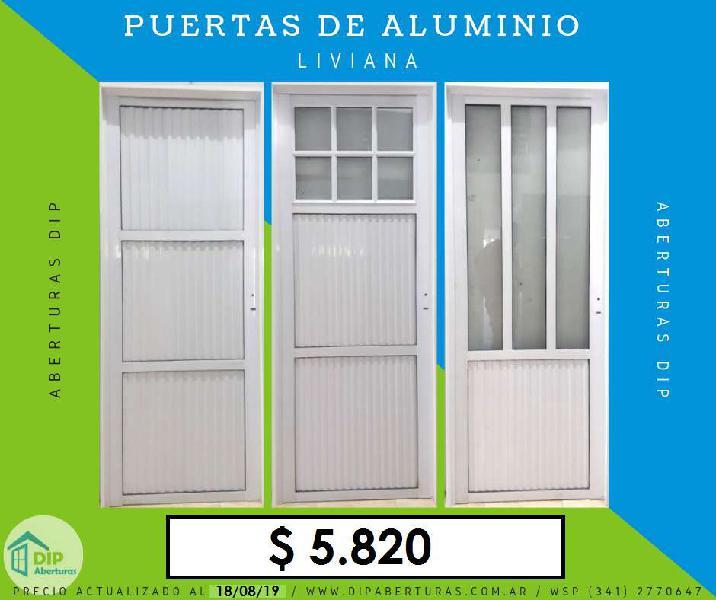 Puerta de Aluminio 25 Mm 80 X 200
